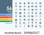 fashion vector set of modern...   Shutterstock .eps vector #349860317