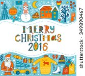 christmas greeting card... | Shutterstock .eps vector #349890467