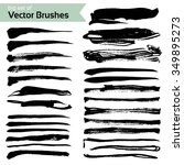 abstract brush textured strokes ... | Shutterstock .eps vector #349895273