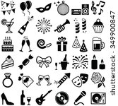 party and celebration icons... | Shutterstock .eps vector #349900847