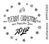 merry christmas black... | Shutterstock .eps vector #349914263