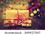 gifts of christmas decorations... | Shutterstock . vector #349927547
