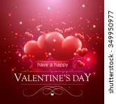 valentine's day message ... | Shutterstock .eps vector #349950977