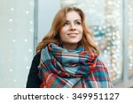sweet woman with a smile in a...   Shutterstock . vector #349951127