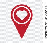 map pin pointer hear icon