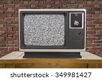 old television with static... | Shutterstock . vector #349981427
