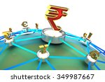 3d currency exchange | Shutterstock . vector #349987667