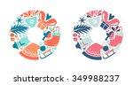 vector illustration of flat... | Shutterstock .eps vector #349988237
