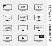 tv icons vector set. tv screens ...   Shutterstock .eps vector #349991753