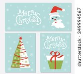 christmas posters set.template... | Shutterstock .eps vector #349994567