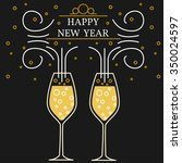 happy new year greeting card.... | Shutterstock .eps vector #350024597