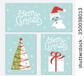 christmas posters set.template... | Shutterstock .eps vector #350038013