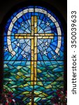 Stained Glass Window In A...