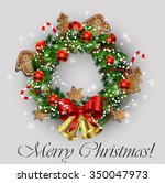 white card with christmas... | Shutterstock .eps vector #350047973