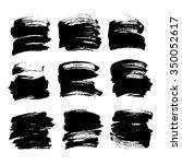 textured ink smears big set... | Shutterstock .eps vector #350052617