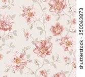 flowers seamless pattern   for... | Shutterstock . vector #350063873