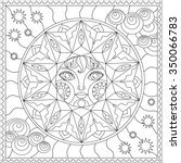 contour illustration  sun ... | Shutterstock .eps vector #350066783
