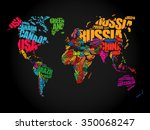 world map in typography word... | Shutterstock .eps vector #350068247