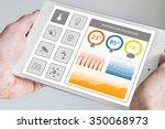 smart home dashboard in order... | Shutterstock . vector #350068973