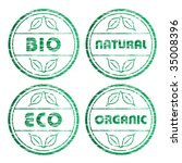 vector scratched eco stamps | Shutterstock .eps vector #35008396