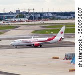 Small photo of FRANKFURT, GERMANY - SEPTEMBER 25, 2015:Air Algerie Airbus A330-203 taxis around CDG Airport on September 25, 2015. Air Algerie is the national airline of Algeria