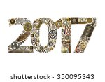 Year 2017 Made Of Metal Objects