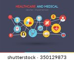 healthcare and medical concept... | Shutterstock .eps vector #350129873