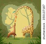 love illustration  the deer and ... | Shutterstock . vector #350137187