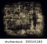 dark grunge scratched wall... | Shutterstock . vector #350141183