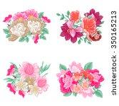flower set | Shutterstock .eps vector #350165213