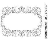 vintage baroque frame scroll... | Shutterstock .eps vector #350172617