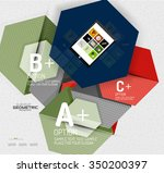 abstract info banner with...   Shutterstock .eps vector #350200397