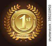 1st golden anniversary wreath... | Shutterstock .eps vector #350210903