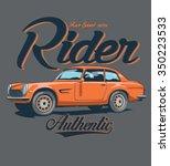 vintage race car for printing... | Shutterstock .eps vector #350223533