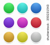 modern colorful circle... | Shutterstock . vector #350231543