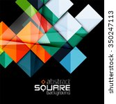 glossy color squares on black.... | Shutterstock .eps vector #350247113
