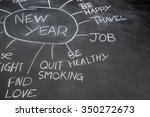 new years resolutions on a... | Shutterstock . vector #350272673