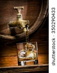 whiskey or brandy is poured...   Shutterstock . vector #350290433