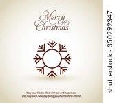 vector snowflake flat icon card.... | Shutterstock .eps vector #350292347