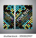 abstract colorful squares... | Shutterstock .eps vector #350302907