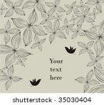 vintage decorative design | Shutterstock .eps vector #35030404