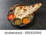 indian curry  naan | Shutterstock . vector #350323343
