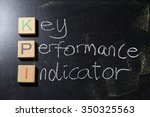 key performance indicator kpi... | Shutterstock . vector #350325563