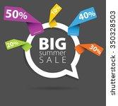 speech bubble pointer vector... | Shutterstock .eps vector #350328503