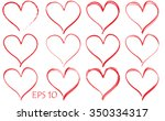 red hearts background | Shutterstock .eps vector #350334317