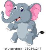 cute elephant cartoon | Shutterstock . vector #350341247