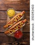 Homemade Hot Dog With Ketchup...