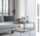 modern living room with modern... | Shutterstock . vector #350400227