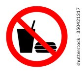 no food and drink allowed... | Shutterstock .eps vector #350421317