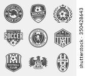 set of football  soccer  crests ... | Shutterstock .eps vector #350428643